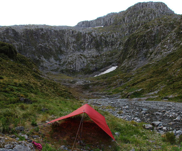 Campsite at the head of the Castle River