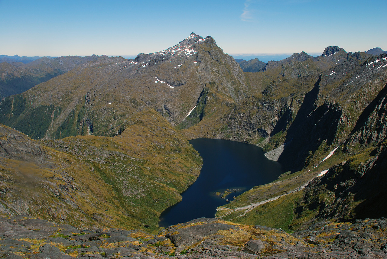 The lake at the head of the Dark River, and unnnamed peak pt 1682m