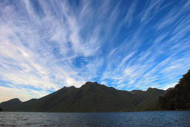 The Franklin Mountains from Lake Te Anau