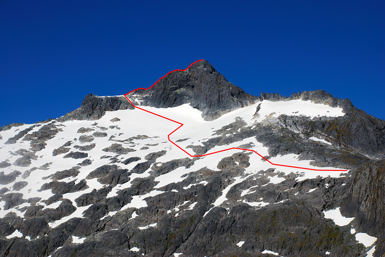 My route up Barrier Peak
