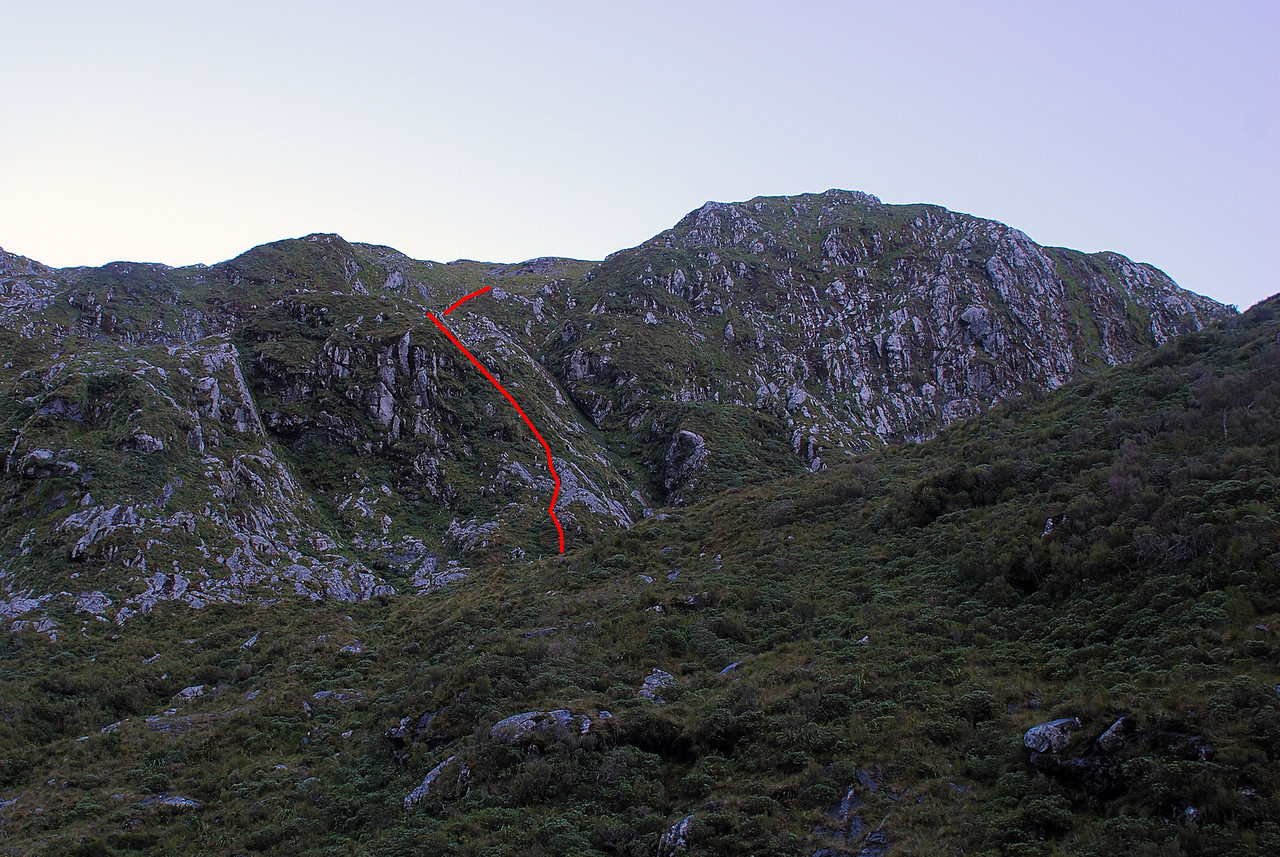 Route out of the Castle River cirque