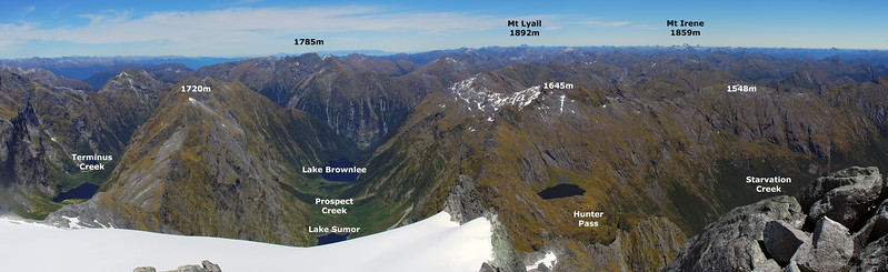 View south from the east ridge of Barrier Peak