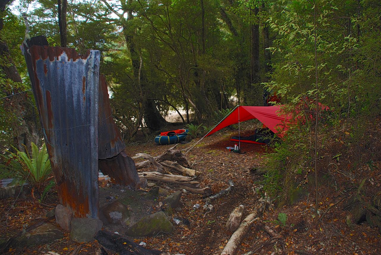 Camp at Camp Bay, Lake Te Anau
