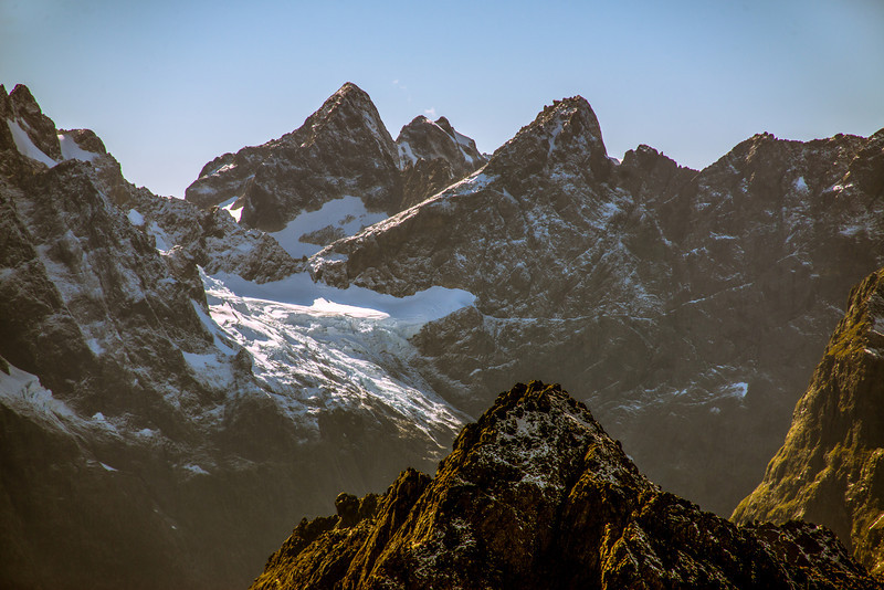 Mt Te Wera and Karetai Peak from pt 1655m. Mt Isolation in the foreground