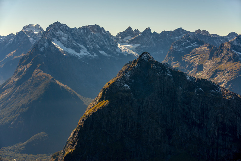 View from pt 1655m: Mt Isolation and the Central Darrans (Madeline, Underwood, Te Wera, Karetai, Revelation)