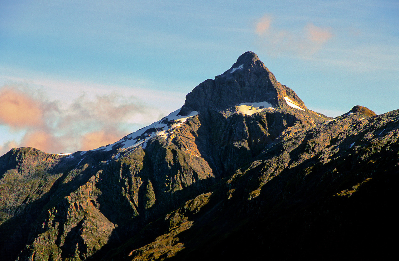 The summit pyramide of Coronation Peak from near Irene Saddle