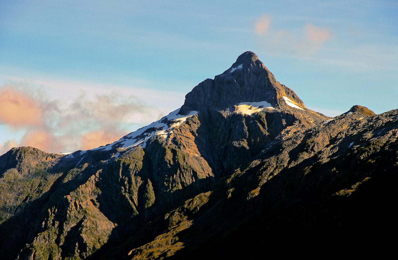 The summit pyramide of Coronation Peak from near Irene Saddle