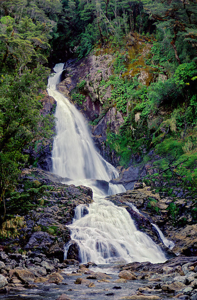 Gorge Falls, just above the mouth of the Gorge Burn
