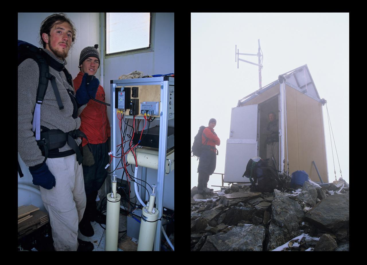 The radio station on the summit of Mt Irene