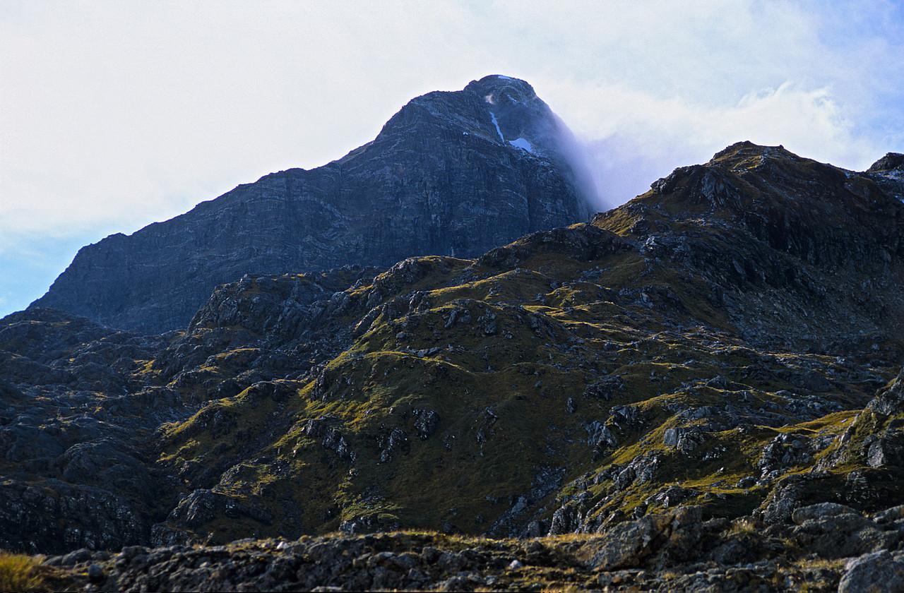 Mt Irene looms high above Robin Saddle