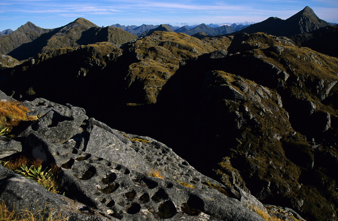 View onto the Museum Range from the South West Ridge of Coronation Peak