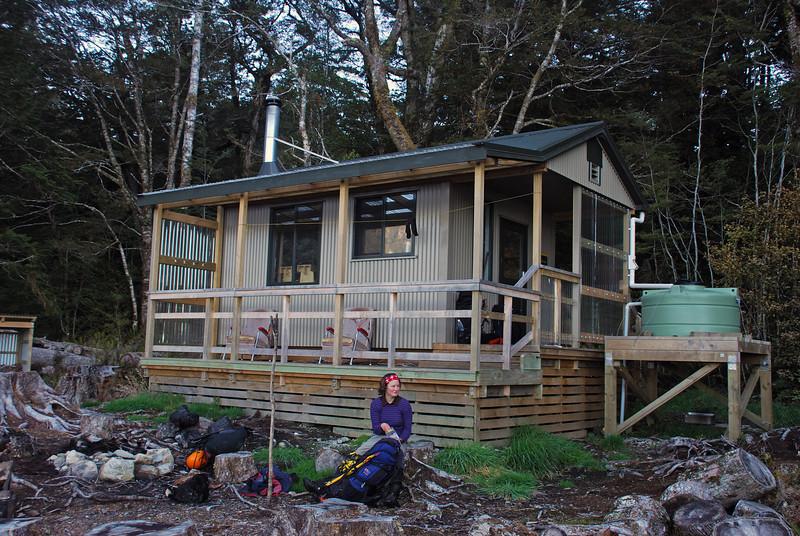 The new Rodger Inlet Hut, Lake Monowai