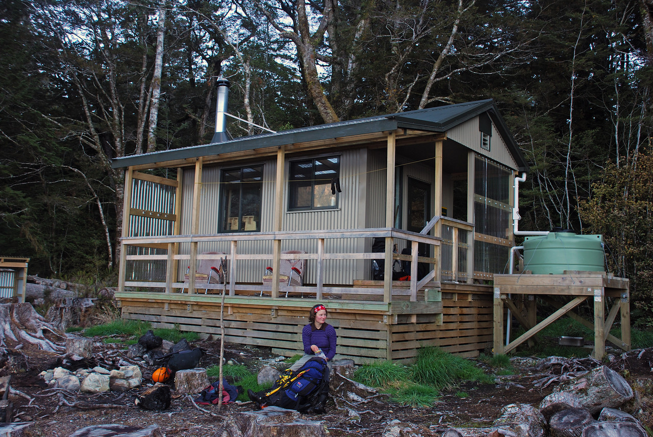 The new Rodger Inlet Hut, Lake Monowai