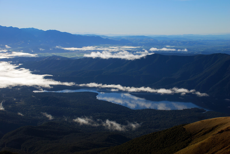 Lake Monowai and Rodger Inlet from Cleughearn Peak
