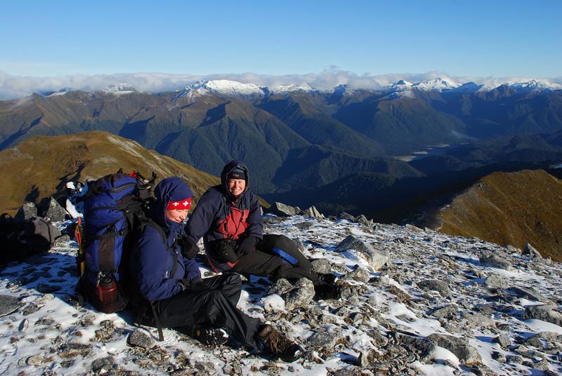 Nina and Lara on Cleughearn Peak