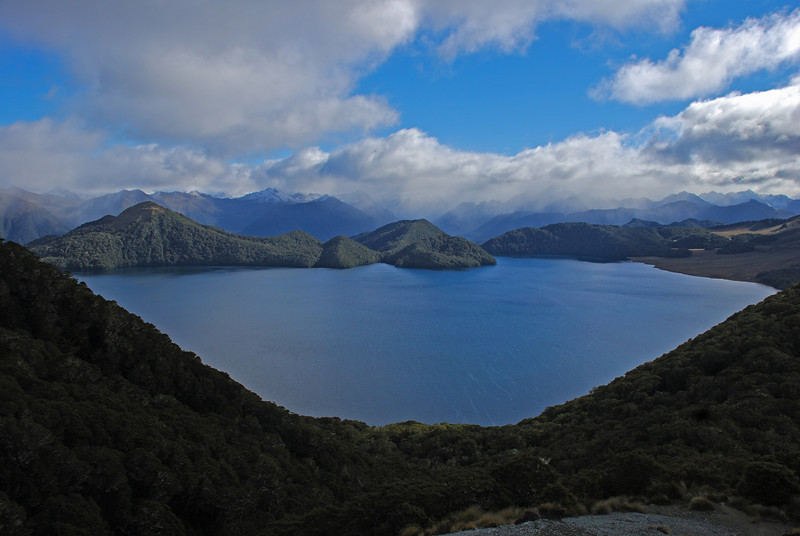 Green Lake from the slopes of Mt Cuthbert