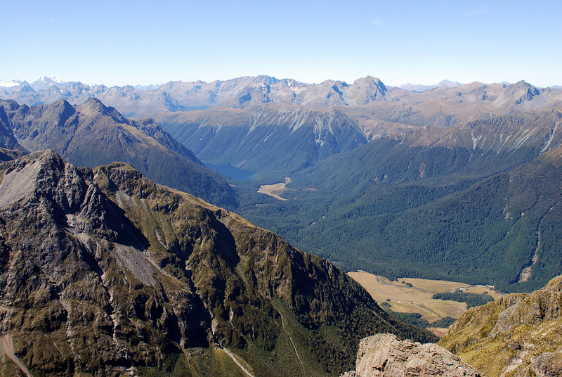 30. Lake Gunn and the northern Livingstone Range from the top of Disappearing Peaks