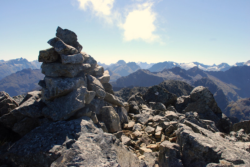 15. A brand new cairn on the summit