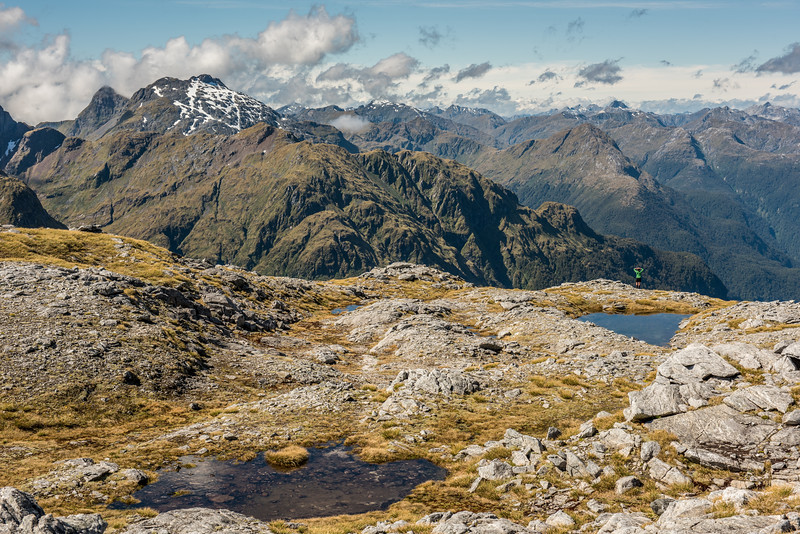 On Mount Memphils. Mount Wilmot and Koinga Peak are on the left.