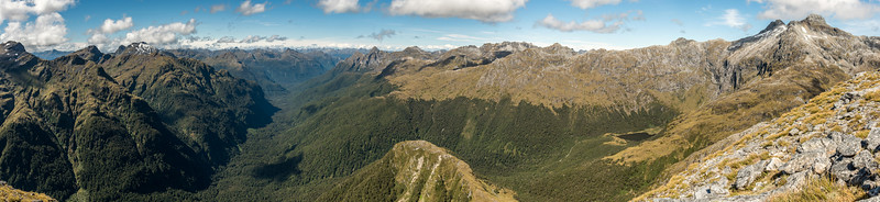 Panorama from Mount Memphis, looking north-east.