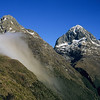 Consolation Peak, Ngatimamoe Peak and Pyramid Peak from Falls Creek