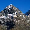 Ngatimamoe Peak and Pyramid Peak from Falls Creek