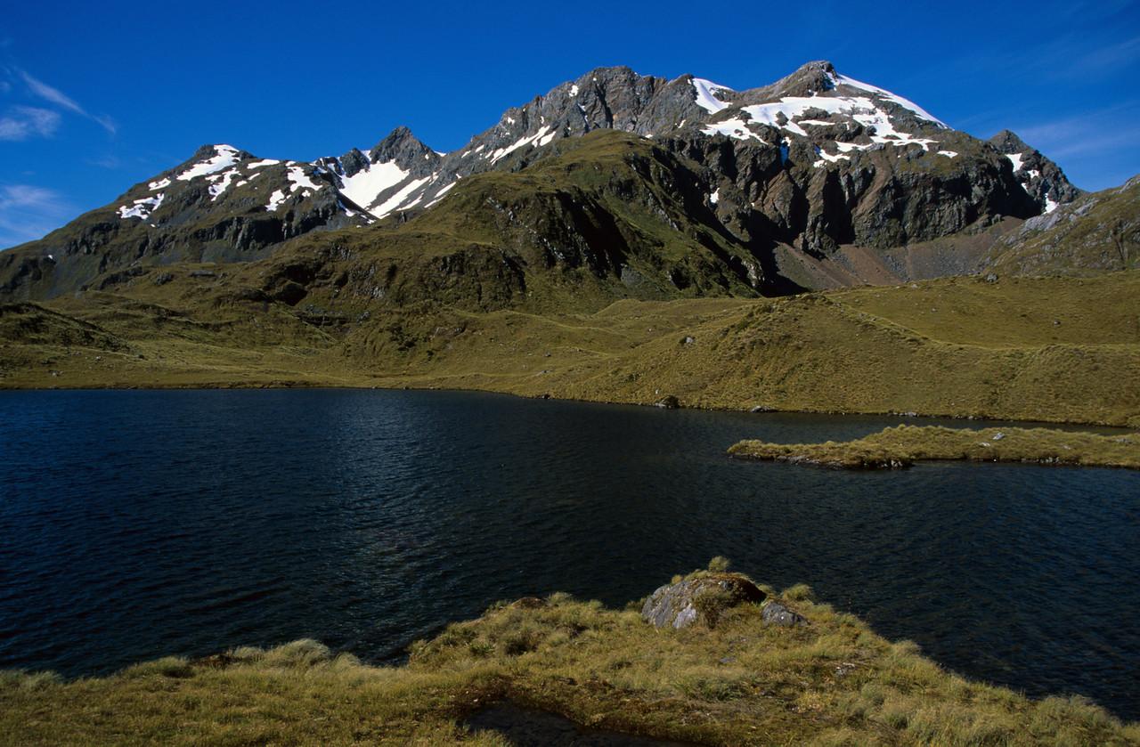 Lake Roe and Tamatea Peak, Merrie Range