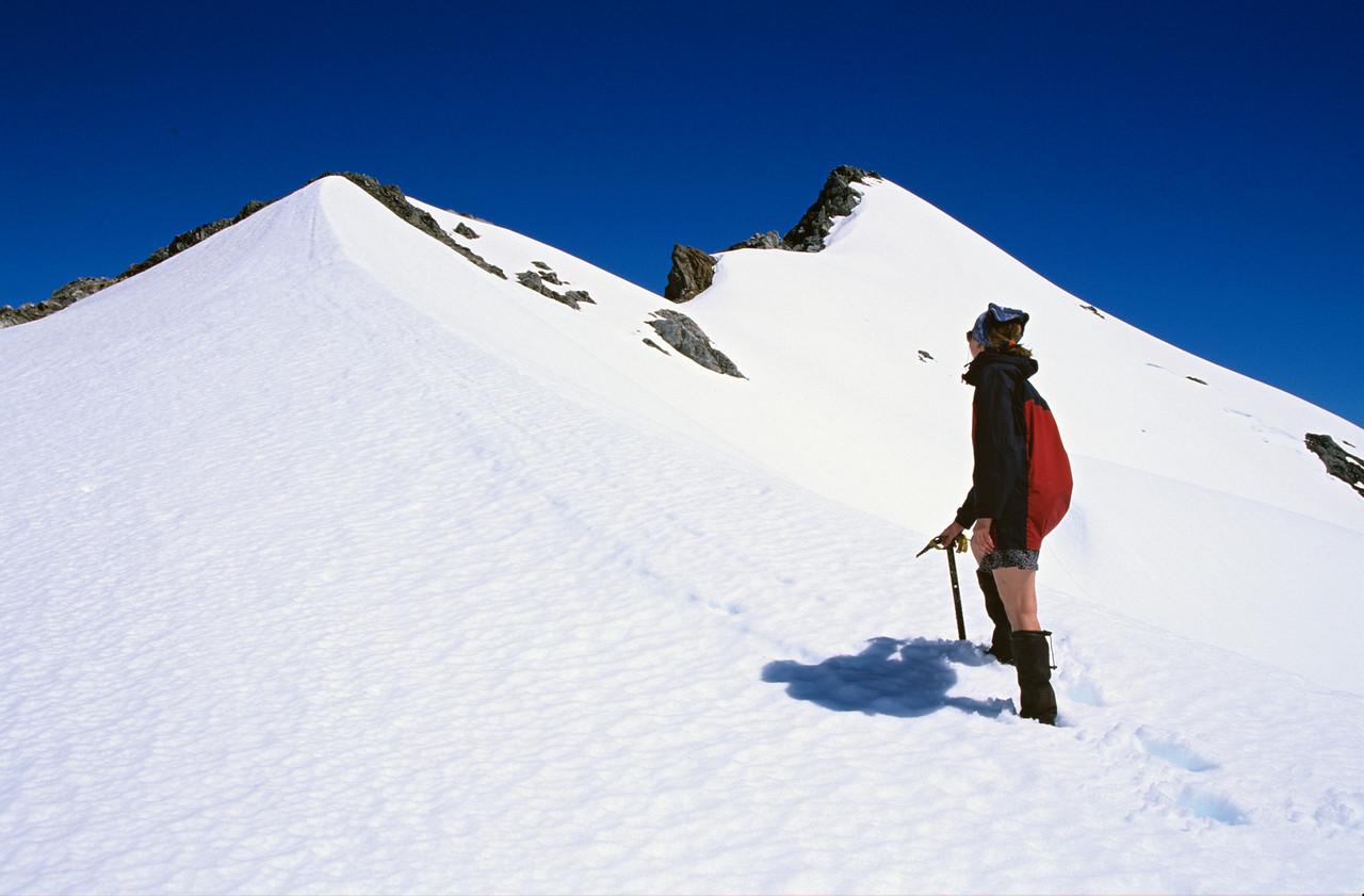 Climbing Tamatea Peak, Merrie Range