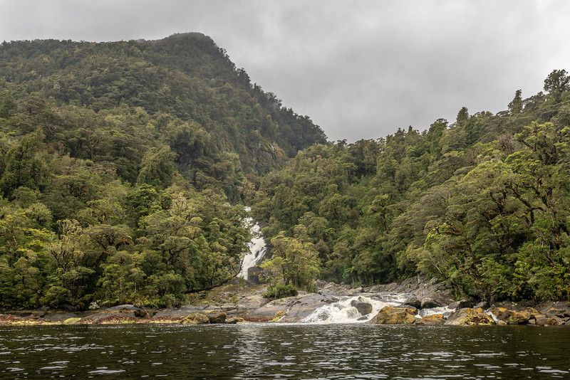 Alice Falls, George Sound, Fiordland National Park.