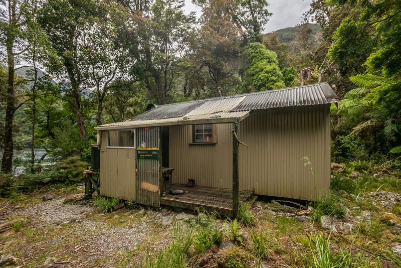 George Sound Hut. George Sound, Fiordland National Park.