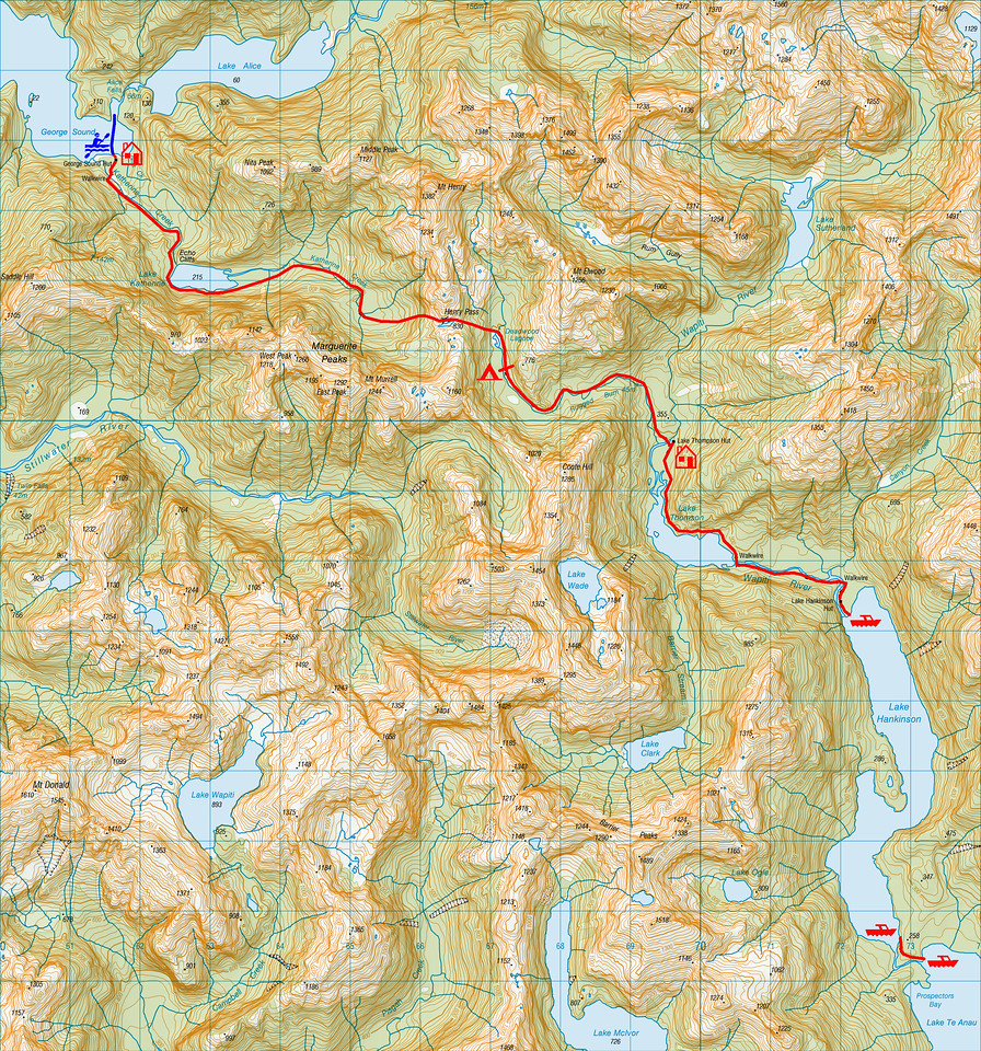 "Trip map. 1 grid square = 1km. LLeft click on map then select ""Sizes -> Original"" in bottom right corner of screen to view full size"