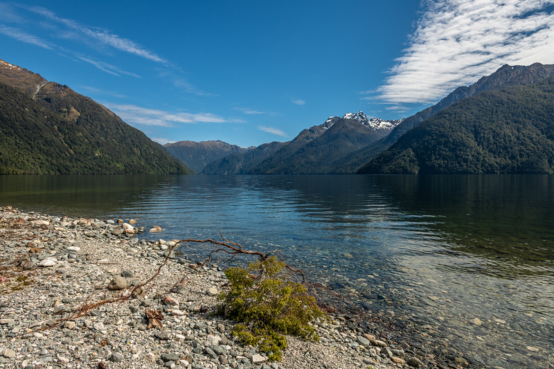 Looking across the South Fiord of Lake Te Anau to Mt Lyall.