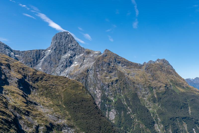 Mount Grave and Mitis Peak from Lake Pukutahi