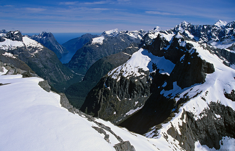 Milford Sound from Barrier Knob