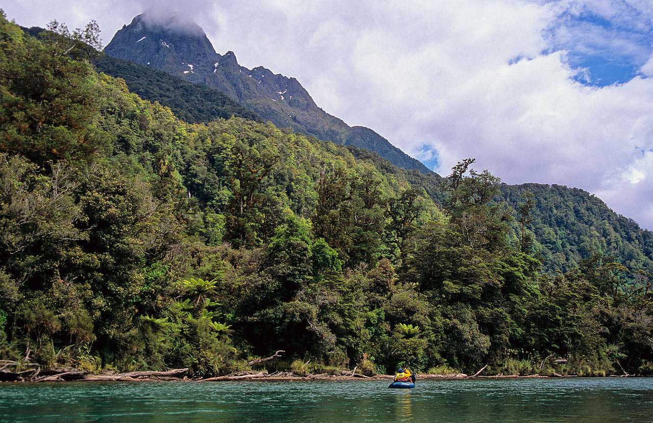Paddling the Hollyford River