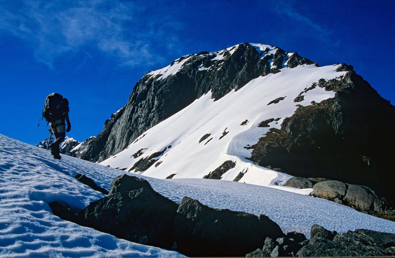 On the north-west ridge of Barrier Knob