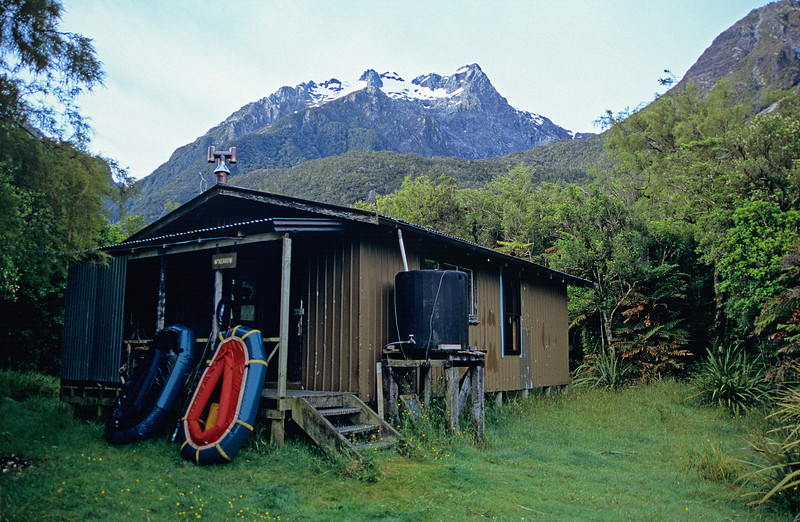 McKerow Island Hut. Puketuroto Peak above