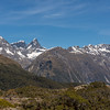 View from Key Summit: Ngatimamoe Peak, Flat Top Peak, Pyramid Peak, Mount Suter
