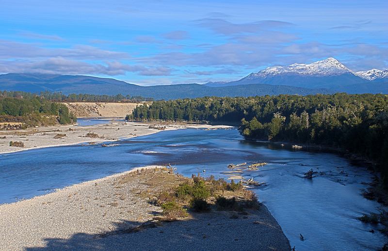 Waiau River and Mount Titiroa