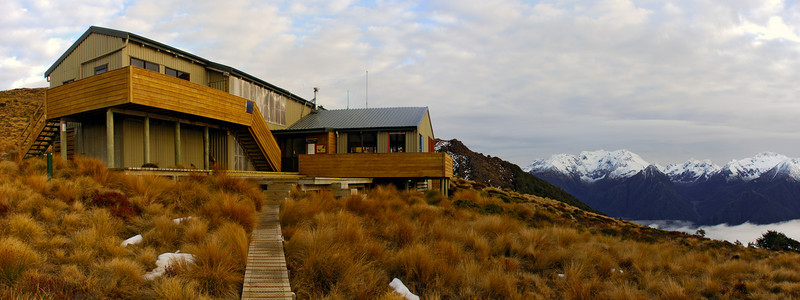 Luxmore Hut and the Murchison Mountains