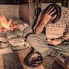Hut-beggar. Historic Clark Hut