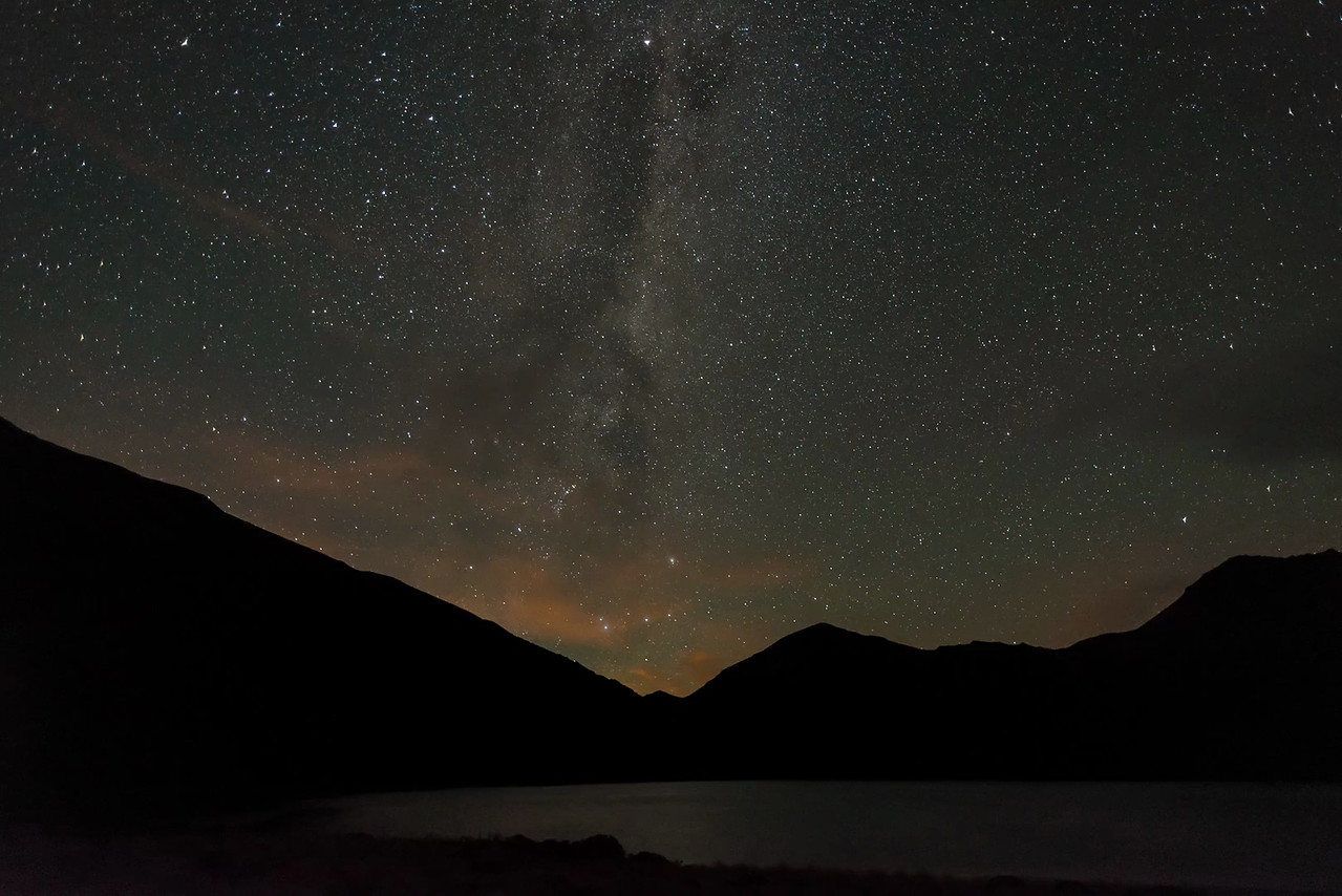 Time lapse - Milky Way above Green Lake