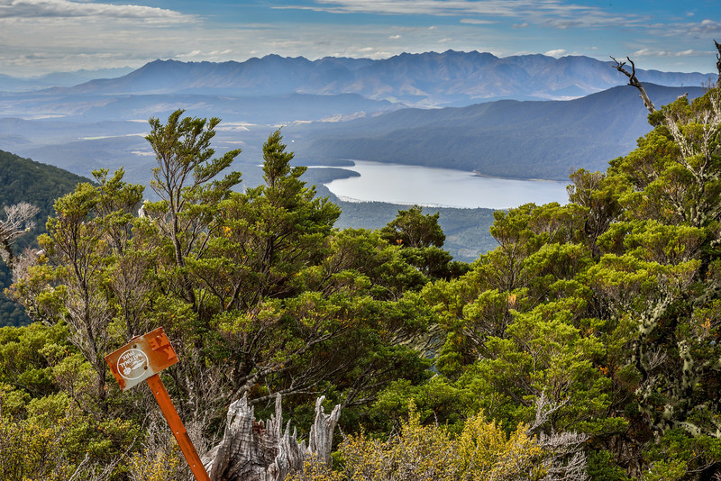 The Takitimu Mountains and Lake Monowai from the tops above Rodger Inlet.