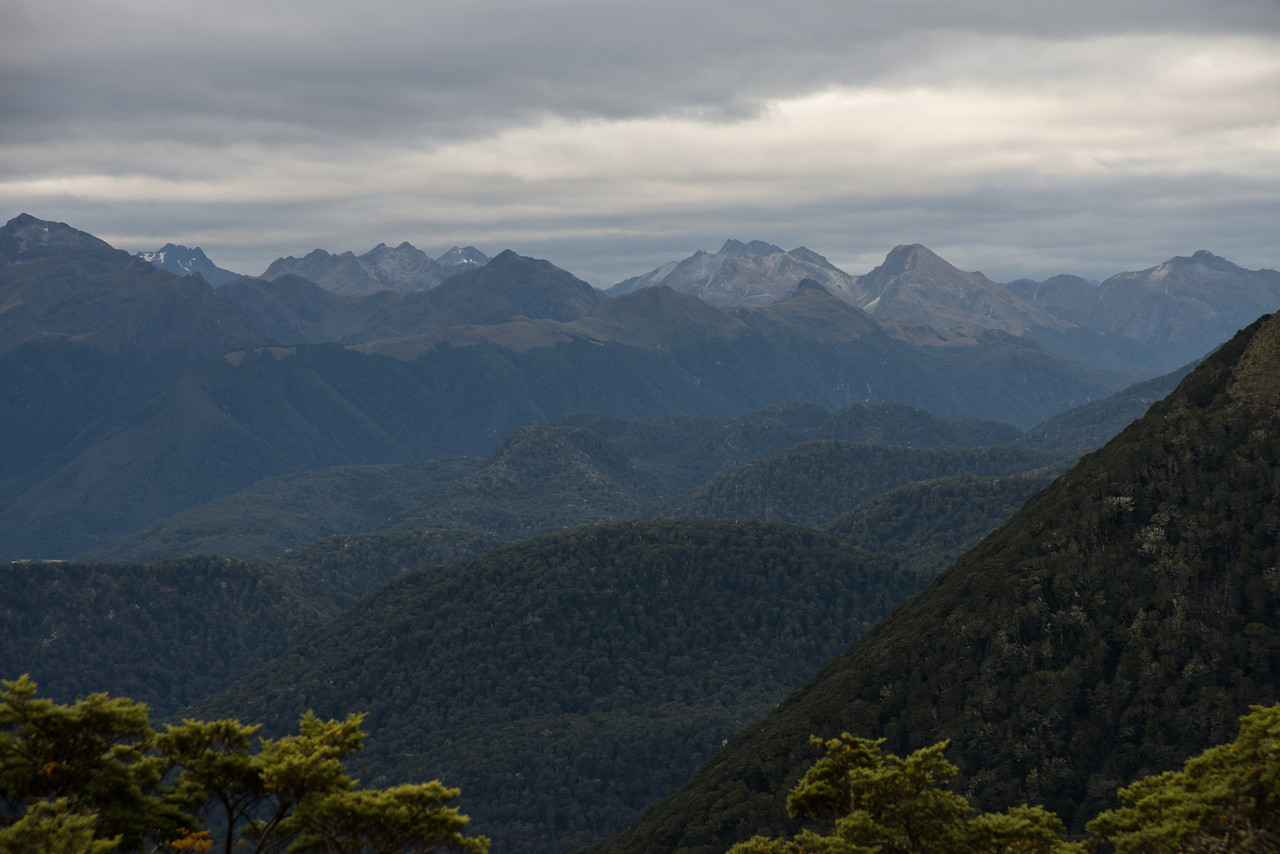 The mountains north-west of Lake Monowai