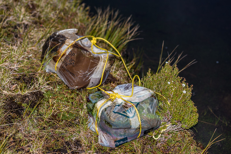 An abandoned food drop we found in the tarn where we camped.