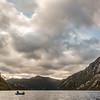 Paddling Lake Monk. Solitary Peak is at centre image.