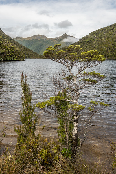 Looking back across the lake