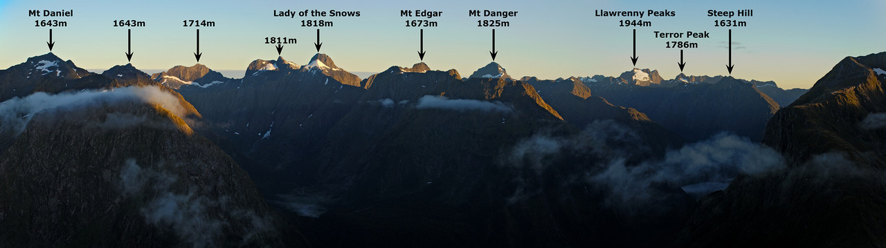 Panorama from the north-east ridge of Mount Hart
