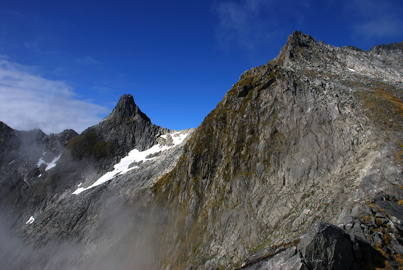 The Nicholas Peaks from the south ridge of Aiguille Rouge