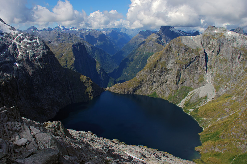 Lake Quill and the Arthur River from Couloir Peak